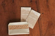 Leather Card Holder, Kiku Corner 13