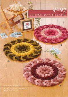 Vida Pink - Meus Crochês: Me Ajudem a fazer este Tapete.