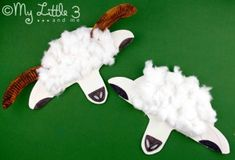 stage 5 paper plate lamb and sheep masks