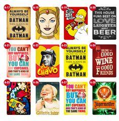 (1) Placas Decorativas Retrô, Vintage, Cervejas & Filmes - R$ 14,90 no MercadoLivre