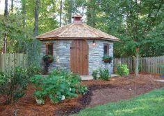 29 New Ideas garden shed office design - Modern Shed Design Plans, Shed Plans, Porch Plans, House Plans, Backyard Sheds, Backyard Landscaping, Small Wood Shed, Brick Shed, Garden Shed Kits