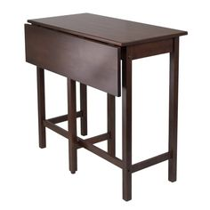 Winsome Lynwood Drop Leaf High Table - Are you looking for a great type of table for your homes? If your place is not that wide, then you probably need one that is space-efficient. Whether you need it to serve as coffee table, desk or dining table, then this bar height table is what you are looking for. High Dining Table, Extendable Dining Table, Dining Set, A Table, High Tables, Drop Leaf Kitchen Island, Kitchen Island Table, Kitchen Nook, Kitchen Counters