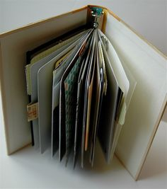Tutorial for turning a hardcover book into a binder. Lots of photos and info! Gail