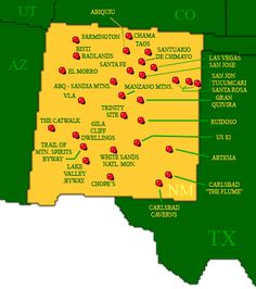 New Mexico (NM, US) Attractions: (Click on the map or select from the list)