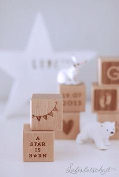 Liebesbotschaft: Holzwürfel mit Gravur - give-away!