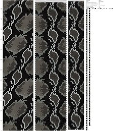 30 around bead crochet pattern... It would be great for weaving on a loom! (Жгуты из бисера схемы's photos)