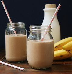 chocolate banana smoothie - this sounds yum!  And with a few differences it's still very similar to one of my favorite smoothies I've come up with so far (mine lacks cinnamon, uses peanut butter in place of almond butter, and regular milk)