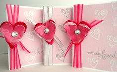 Valentine Set Pack of 3 Cards Pastel Pink YOU ARE by stephanieh02, $10.00