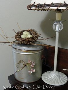 embellishing vintage tins: Rustic Crafts & Chic Decor