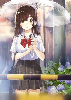 Cosplay Manga she is waiting for. Anime School Girl, Anime Girl Cute, Beautiful Anime Girl, Kawaii Anime Girl, Anime Art Girl, Manga Girl, Anime Love, Anime Girls, Kawaii Art