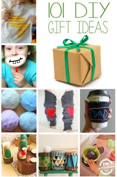101 DIY Gifts for Kids - seriously!  There are over a 100 ideas for making homemade gifts.