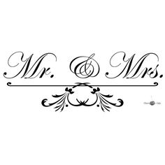 Mr & Mrs  Vinyl Wall Saying by CherryChipCafe on Etsy, $15.00  vinyl to put on the glass of picture frames