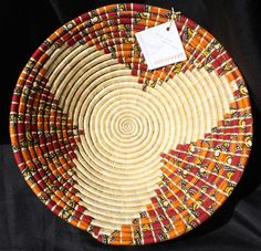 """the beloved Fruit Bowl """"Maua"""" basket (""""flower"""" in Swahili) - individually handcrafted by WomenCraft artisans in Tanzania"""