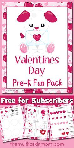 FREE Valentine's Day PreK Fun Pack