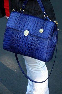 89d254d55c5 dying! love that blue! Beautiful Handbags, Beautiful Bags, Brahmin Bags,  Brahmin