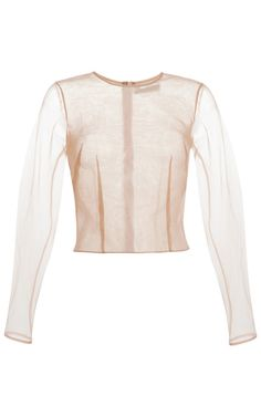 Nude Silk Organza Top by Simone Rocha for Preorder on Moda Operandi