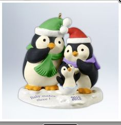 Baby makes three! Hallmark ornament 2012
