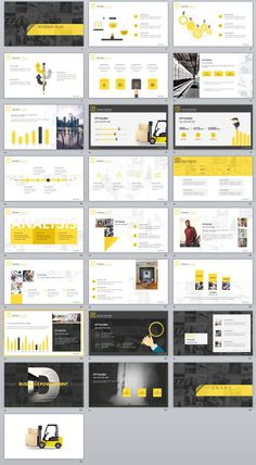 25+ yellow business plan report PowerPoint templates