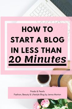 start a blog, start