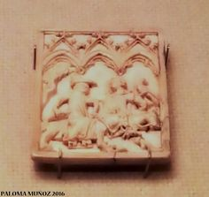 Tabla para escribir. Marfil 1300-1350 Francia. Writing plaque 1300-1350 France Ivory
