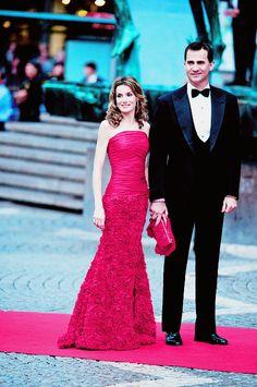 princessestelles:  Crown Princess Letizia and Crown Prince Felipe