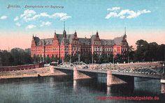 Breslau - Königliche Regierung und Lessingbrücke