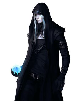 Cyberpunk with glowing orb, female or androgynous with dark clothes, 160107 by exellero on DeviantArt