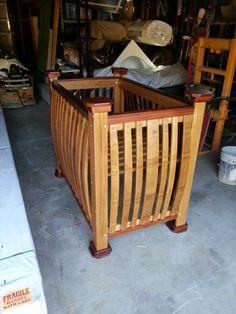 Barrely living- wine barrel baby crib!