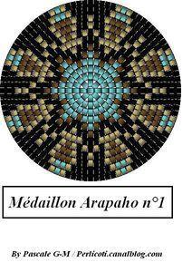 Peyote seed bead pattern medallion