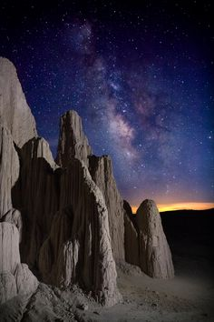 Cathedral Gorge by Jen Churchward on 500px... #Cathedral Gorge #Milky Way #Stars