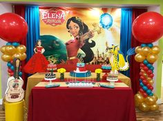 Elena de Avalor (Festa) Princess Elena of Avalor (Party) Unicorn Birthday Parties, Birthday Bash, Birthday Ideas, Barbie Em Paris, Backdrops For Parties, Princess Birthday, Birthday Decorations, Party Themes, Party Ideas