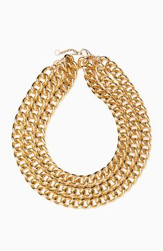 Chunky Layered Chain Link Necklace