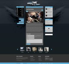 Blog Page of Bandzone WP Theme. http://preview.ait-themes.com/index.php?bartype=desktop=bandzone #wordpress #webdesign