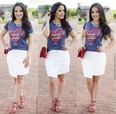 Look por @paaolasantanaa - Saia branca e camiseta estampada (camiseta de @blogperfumeparadeus ) - Crente chic, garotas cristã, menina evangélica