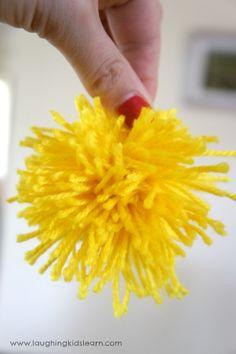 Wattle Pompom in yellow