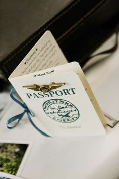 Passport wedding invitations - this is so so cute. I don't know when I'd never use them, but they are sweet!