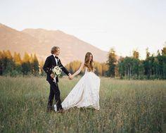 Stunning mountain wedding in Glacier National Park via Magnolia Rouge