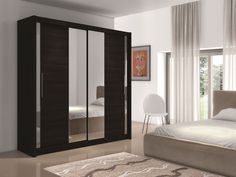 Soho I - wenge or oak wardrobe Single Door Wardrobe, Oak Wardrobe, Wardrobe Sale, Wardrobe Design Bedroom, Sliding Wardrobe Doors, Wardrobe Furniture, White Wardrobe, Small Wardrobe, Sliding Door