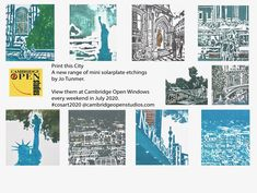 Across Cambridgeshire artists will be displaying their work in windows every weekend in July 2020. Environmental Aesthetics, Penny Price, Kate Green, Front Gardens, Open Window, Etchings, Cambridge, Printmaking, How To Find Out