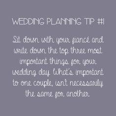Wedding Planning Tip - Prioritise Wedding Prep, Wedding Goals, Wedding Advice, Wedding Planning Tips, Wedding Planner, Our Wedding, Dream Wedding, Wedding Stuff, Cute Wedding Ideas
