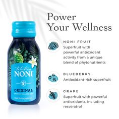 Our Tahitian Noni Original Wellness Shot might be small, but it is mighty. 🍇 The flavors of noni fruit, blueberry, and grape, along with their antioxidant-rich properties, combine to bring you better cellular health, naturally increased energy levels, and better immune function. #NoniORIGINAL Tahitian Noni, Noni Juice, Noni Fruit, Wellness Shots, Life Symbol, Energy Level, How To Increase Energy, Health And Nutrition, Healthy Choices