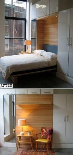 murphy bed. need this when I move to an apt that's shoebox size!