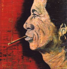 """Johnny Depps painting of Keith Richards """"He was one of the people I admired for what he has done and how he's handled it. Forty-whatever years of being a god. And he's just cool."""" --Johnny Depp"""