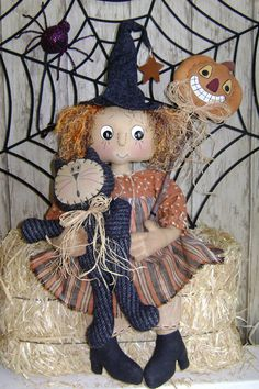 CF248 October's Full Moon Witch Doll EPattern by catandthefiddle, $9.00
