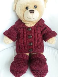 Lyn's Dolls Clothes: Teddy Aran Jacket and Ugg boots