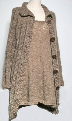 dress + cardigan, why not knit them both?