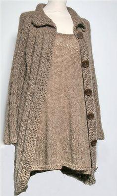 dress + cardigan, why not knit them both?