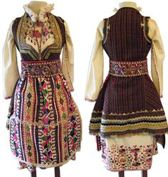 Macedonian folk   Woman's costume, Skopska Blatija   Stefni Agin Collection
