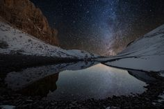 Shooting stars with friends and wolves - Pilato Lake by Alessandro Bartolini on 500px