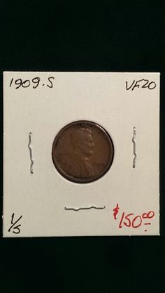 1909-S Lincoln Cent VF-20